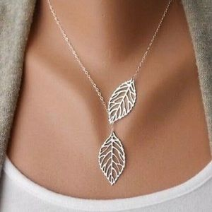 COMING SOON! 🍃 Double Leaf Statement Necklace
